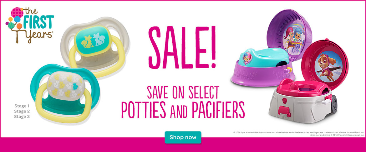 Sale on TFY Pacifiers and Potties